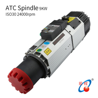 HQD 9kw Air Cooling ATC Spindle 220/380v 24000rpm ISO30 Holder