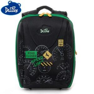 Boy Girl Car Dial Pattern School Bags Large Cartoon Backpack Children Orthopedic Backpacks Mochila Infantil Grade1-4(China)