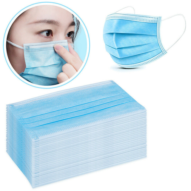 Profession 3-Ply Disposable Mask Nonwoven Masks PM2.5 Anti-Dust Face Masks Elastic rope Soft Breathable Flu Hygiene Safety Masks 5