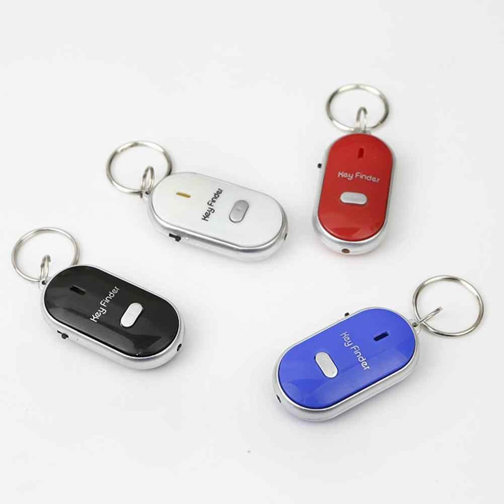 Mini Smart Key Finder Tracker Gantungan Kunci Tracker dengan LED Obor untuk Kids GPS Tracker Dompet Tracker Kerah