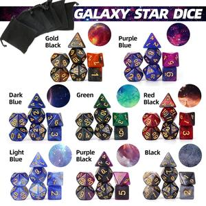 2020 New Arrival Nebula Dice Set Polyhedral Dice 7pcs/set with Black Drawstring Bag for Tabletop RPGs Games 8 Colors(China)