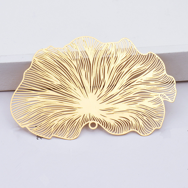 10 PCS 47*80mm Copper Sheet Filigree Wraps Hollow Out Flowers Pendant Connectors DIY Jewelry Accessories