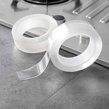 Cinta de sellado para lavabo de ducha, adhesivo autoadhesivo blanco superimpermeable para pared, borde de 3 y 5 m, Nano