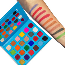 Wholesale No Logo Eyeshadow Palette Bright Rainbow 24 Color Makeup Eye Shadows Private Label Cosmetics