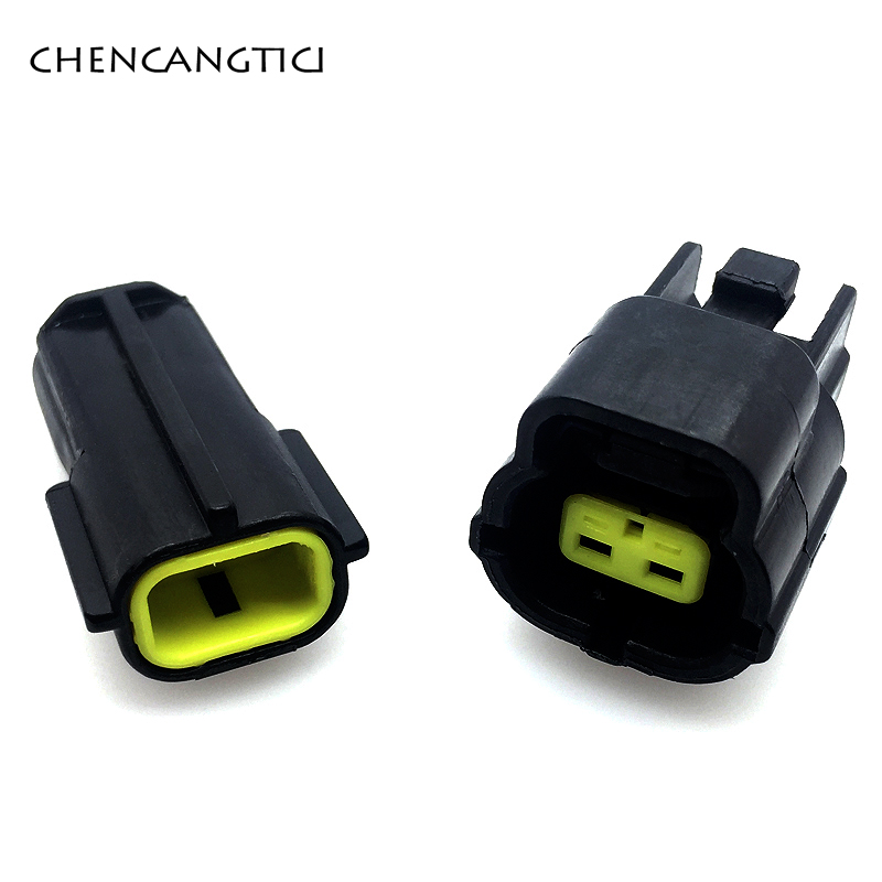 5 Sets 2 Pin/way Female Male Waterproof Wire Connector Plug Car Auto Sealed Car Truck Denso Connectors 174354-2 174352-2