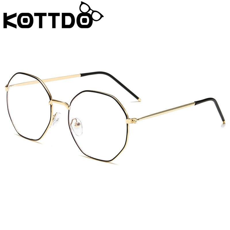 KOTTDO Classic Polygon EyeGlasses Frames Women Vintage Anti-blue Light Computer Eye Glasses For Men
