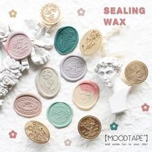 Milk Tea Coffee Seal Greeting Card Sealing Seal Brass Irregular Seal Christmas Card Invitation Decorative Sealing Wax Stamp