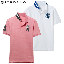 Giordano Men Polo-Shirt Short-Sleeve Embroidered-Pattern Summer Brand 2 Para Pack of
