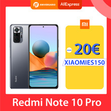 [Première Mondiale En stock] Version mondiale Xiaomi Redmi Note 10 Pro Smartphone 108MP Caméra Snapdragon 732G 120Hz AMOLED Affichage