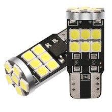 10pcs T10 W5W 194 168 자동차 LED 통관 독서 번호판 전구 자동 도어 테일 램프 18SMD 3030 화이트 레드 아이스 블루 DC12V