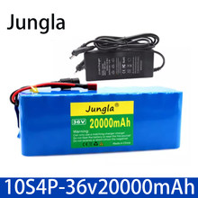 36V Battery 10S4P 36V 20Ah Battery 500W High Power Battery 20000mAh Ebike Electric Bike Charger BMS + 42V2A Charger