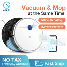 yeedi 2 hybrid Robot Vacuum Cleaner Visual Navigation,Sweep Mop 3in1,APP Virtual wall,2500Pa 200mins Runtime,Customize Cleaning