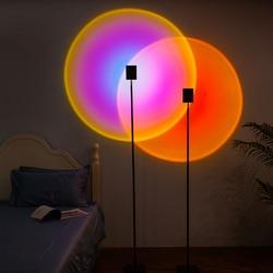 Halo edição evo lâmpadas de assoalho moderna lâmpada led rgb arco-íris pores do sol projeção suporte da lâmpada quarto decoração parede suporte luz