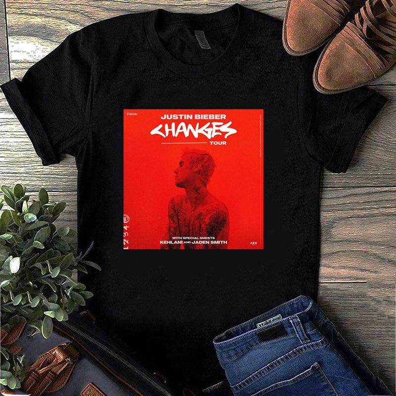 2020 Funny T Shirts Women Men Justin Bieber Changes New Album Tshirt Summer Short Sleeve Shirt Fashion Tee Tops Female Plus Size