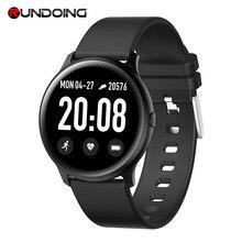 Смарт часы RUNDOING KW19, 1,3 дюймовый экран, пульсометр, кровяное давление, водонепроницаемый, для IOS и Android