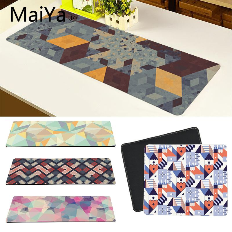 Maiya High Quality Triangle Geometric Patteren Customized Laptop Gaming Mouse Pad Free Shipping Large Mouse Pad Keyboards Mat