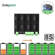 8S/24V QNBBM batería de litio ecualizador Balancer BMS para LIFEPO4,LTO NCM LMO 18650 DIY Pack