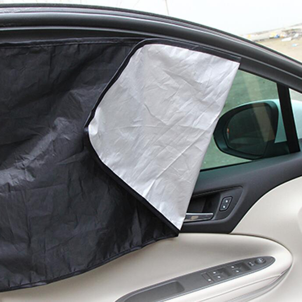 2 Pairs Car  Sun Shield Curtains UV Protection Shield Adjustable
