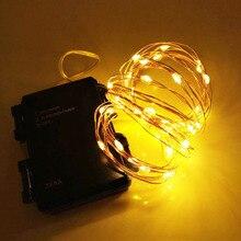 16.5FT 50 светодиодный на батарейках водонепроницаемый светодиодный Сказочный светильник s Крытый открытый таймер Рождественский светильник s декоративный светодиодный светильник