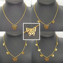 Classic Cute Insect Butterfly Pendants Link Necklace Handmade Temperament Korean Clavicle Necklace Women Statement Jewelry Gift