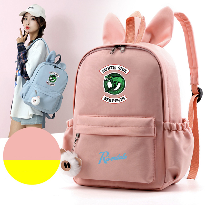 Riverdale American Drama With Rabbit Ears Shoulder Bag Backpack Middle School Student Youth Large Capacity Dropshipping