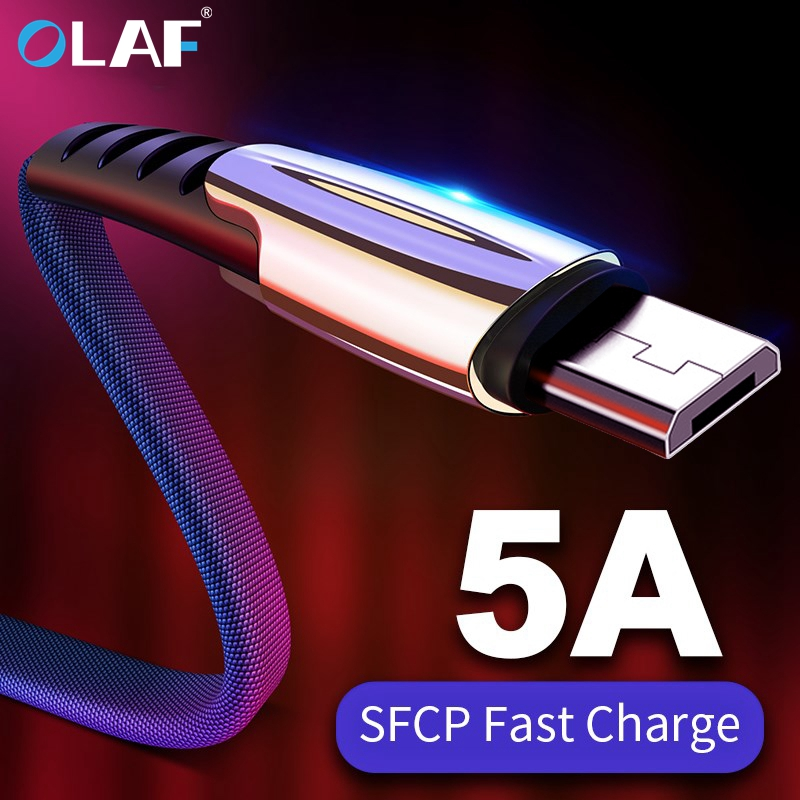 OLAF 5A Micro USB Cable Fast Charging For Xiaomi Redmi Note 5 Pro Android Mobile Phone Data Cable For Samsung S7 S6 USB Charger