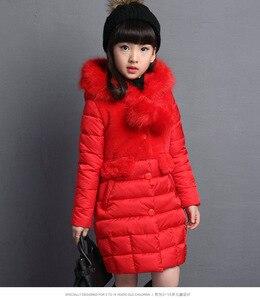Image 3 - Ragazze Caldo Cappotto di inverno Artificiale moda capelli Lunghi Bambini Giacca Con Cappuccio del cappotto per la ragazza della tuta sportiva delle ragazze Vestiti 4 12 anni di età