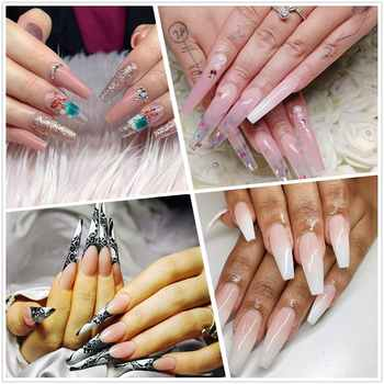 Makartt Poly Nail Extension Gel Kit Acrylic Extension Gel Nail Enhancement Clear Pink Nail Gel Builder Trail Set All-in-One