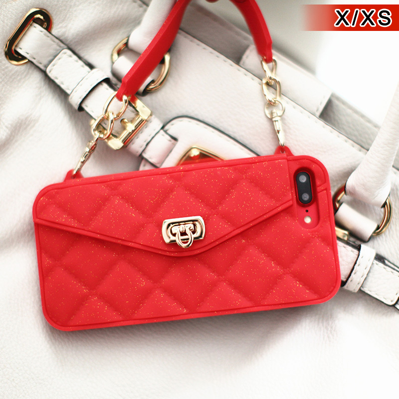 Stylish Handheld Mini Mobile Phone Bag Wallet Card Handbag Purse For IPhone XS Max/XR/X/8/7/6/6S/Plus Card Slot Handbag