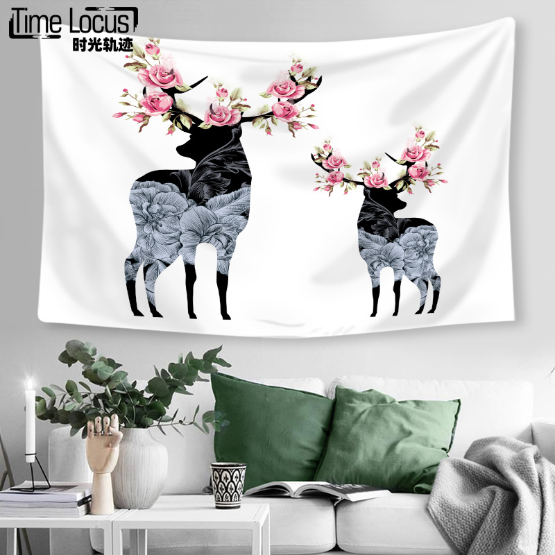 Elk Tapestrys Hippie Home Textile Yoga Multifunction Pad Lace Tapestry Tapestries 130CM * 150CM / 150CM * 200CM