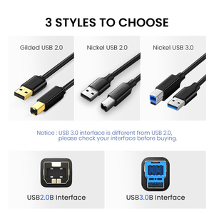 Image 3 - Ugreen USB Printer Cable USB Type B Male to A Male USB 2.0 3.0Cable for Canon Epson HP ZJiang Label Printer DAC USB Printer
