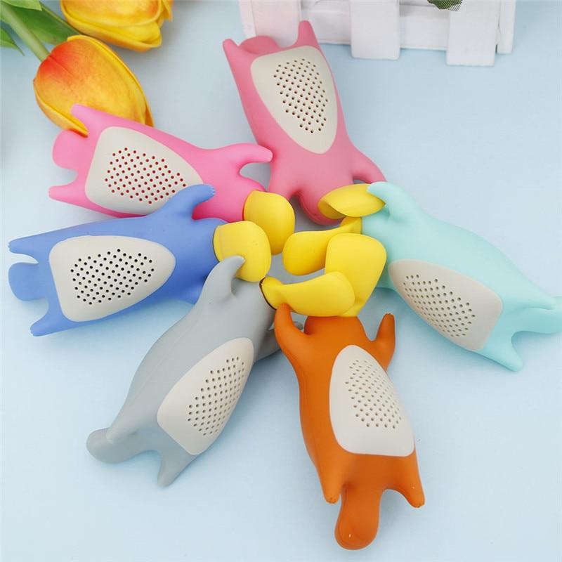 High Quality Creative Cute Platypus Tea Strainer Silicone Leaf Tea Infuser Filter  Tea Accessories