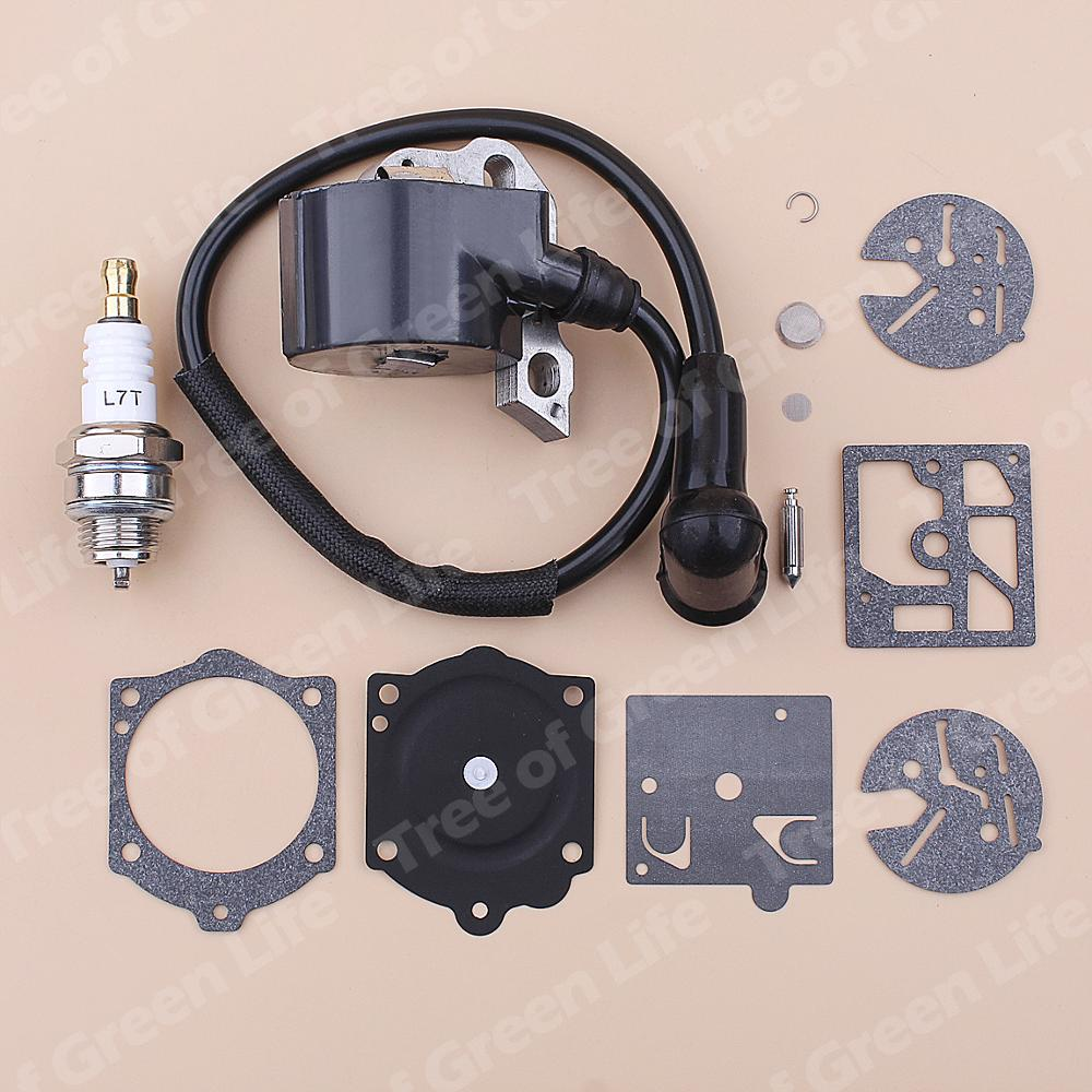 Tools : Ignition Coil Spark Plug For Stihl 015 015AV 015L Chainsaw Carburetor Repair Kit 1114 404 3200