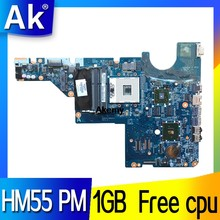 Para HP Pavilion CQ42 CQ62 G42 G62 placa base de computadora portátil 595184-001 totalmente DDR3 HM55 PM GPU/1 GB CPU(China)