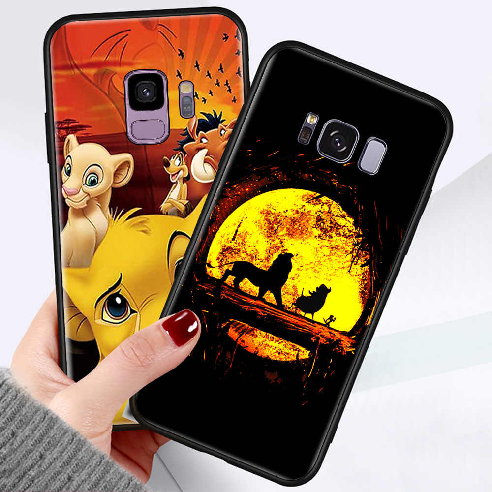 Luxury Silikon Case untuk Samsung Galaxy S7 EDGE S8 S9 S10 Note10 PLUS 5G CATATAN 8 Note9 Lion King Jatuh Lembut back Cover Coque