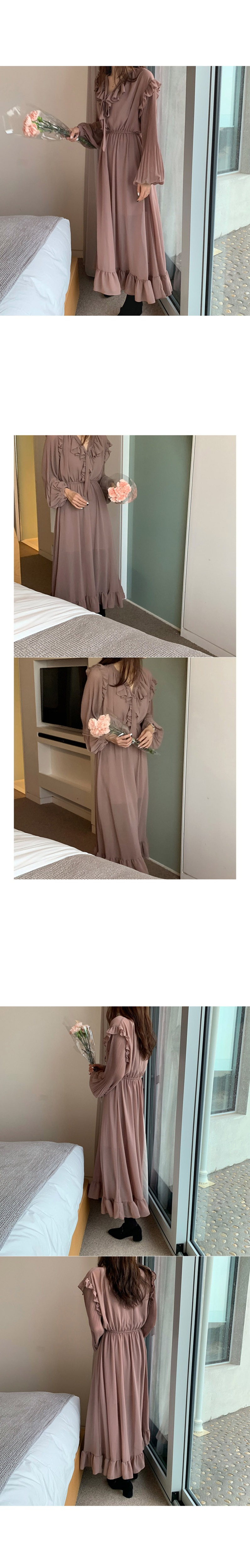 H6505bbec788b4da99ccbe658491f1321d - Autumn O-Neck Long Sleeves Chiffon Ruffles Maxi Dress