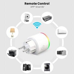 Image 4 - Умная розетка AVATTO, беспроводная вилка 16 А, разъем EU, подсветка RGB, счетчик потребляемой мощности, Wi Fi, Google Home, голосовое управление Alexa