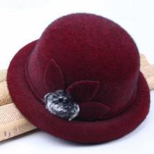 Женские солнцезащитные кепки осень зима фетр Твердые Цвет в