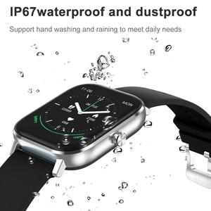 Image 4 - DT35 ساعة ذكية الرجال بلوتوث دعوة تعمل باللمس الكامل جهاز تعقب للياقة البدنية ضغط الدم ساعة ذكية IP67 النساء Smartwatch ل amazfit x