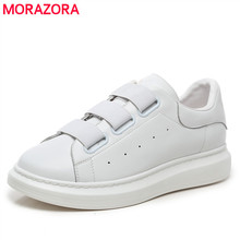 BiG SIZE 38-46 Genuine leather couple shoes platform sneakers women