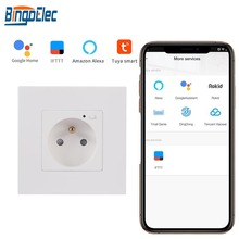 French-Socket Smart-Life Panel-Wifi Alexa Standard Home EU White Black PC Bingoelec