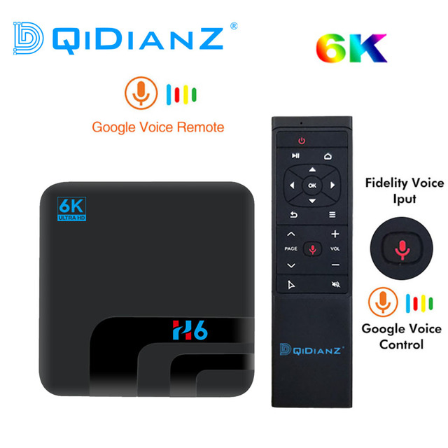 Android 9.0 H6 MAX Allwinner H6 telewizor 4G 32G HD 6k odtwarzacz multimedialny TV, pudełko Google Voice Assistant