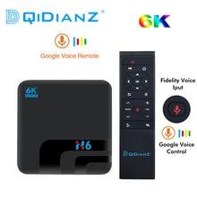 Android 9.0 h6 max allwinner h6 tv conjunto caixa superior 4g 32g hd 6k media player caixa de tv google assistente de voz