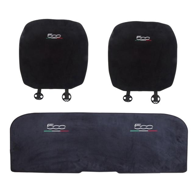 Car Soft Plush Seat Cushion Warm Winter Pad Mat Auto Interior Accessories for Fiat 500 500L Abarth 595 competizione car styling 6