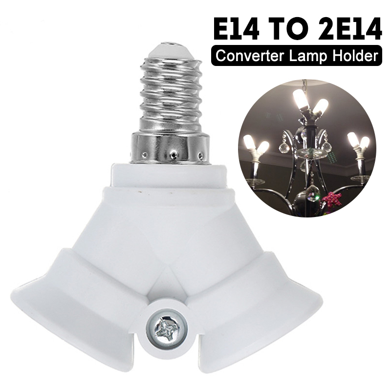 AC100-230V E14 To 2 E14 Bulb Lamp Base Holder Converter Socket Adapter Splitter Converter Socket For Home Light