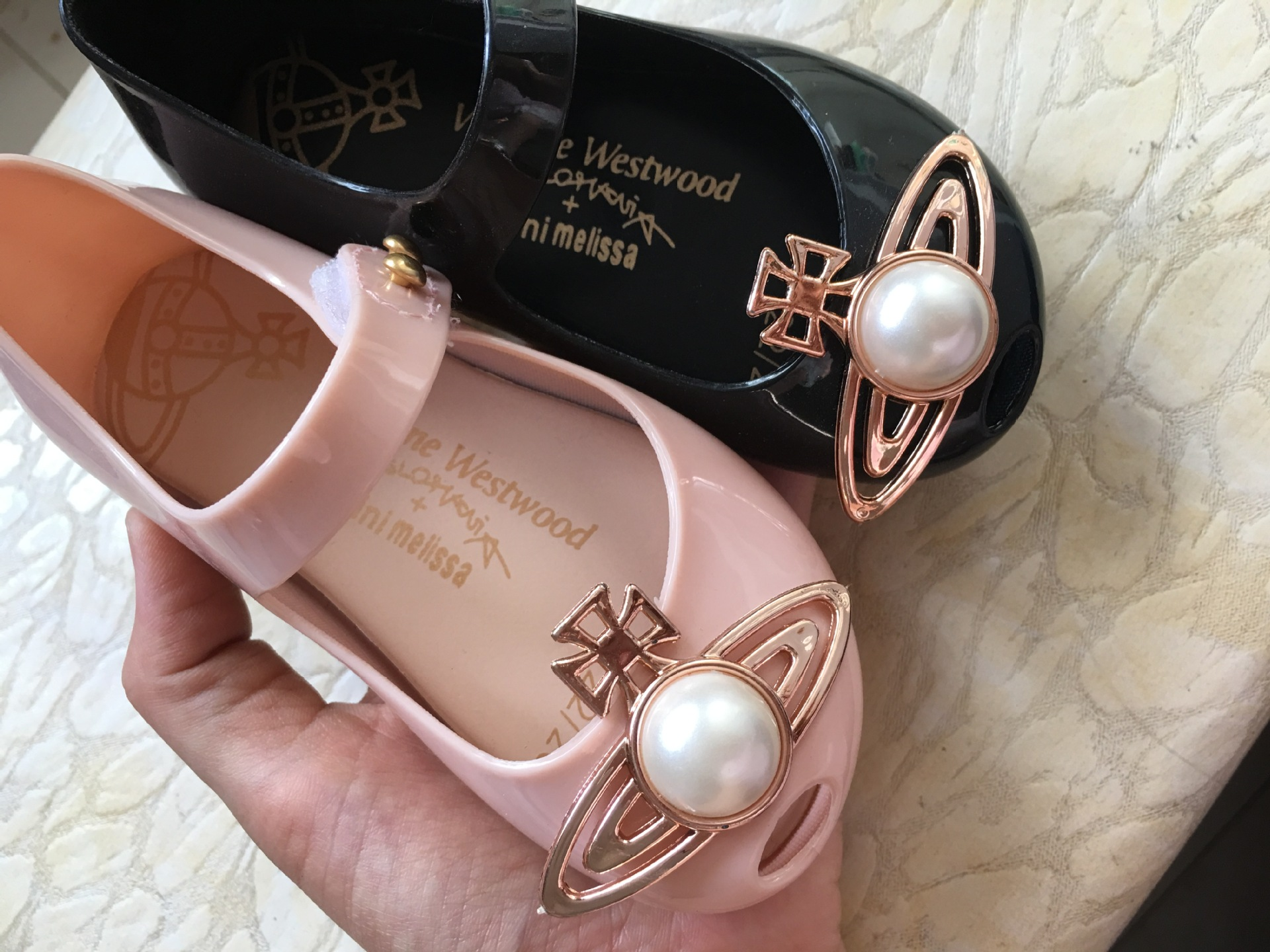 Kids Girls Mini Melissa Jelly Princess Shoes Sandals Toddler Pearl Saturn Gift