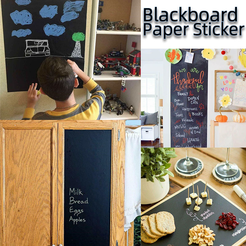 60x200cm Kids Blackboard Paper Removable Wall Sticker Chalkboard Decal Children Drawing Write Blackboard Chalkboard Sticker Roll