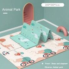 Xpe環境にやさしい厚手のベビークロールマット折りたたみマットを再生する子供のマット子供敷物プレイマット