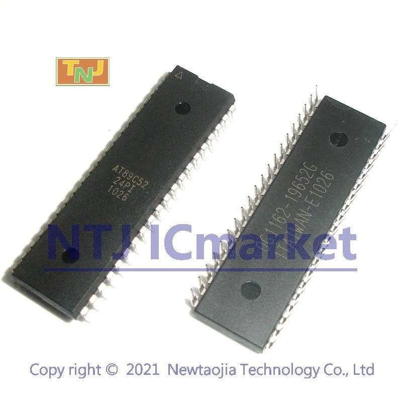 Из 2 предметов AT89C52-24PI DIP-40 AT89C52 8-битный микроконтроллер с 8 к байт Flash IC чип