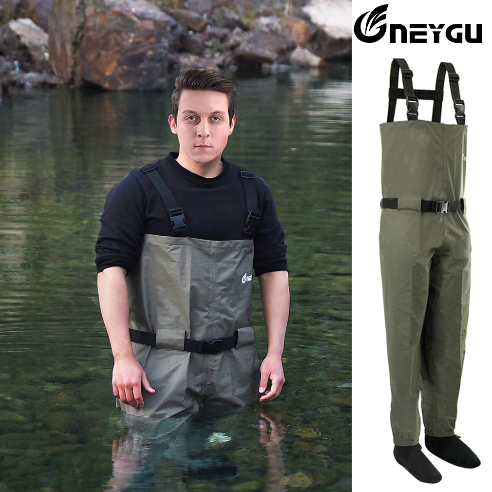 Trousers Rafting-Pants Chest-Wader Hunting Breathable Stockingfoot High-Quality title=